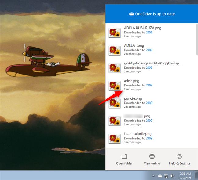 Windows 7中OneDrive显示的上次同步时间