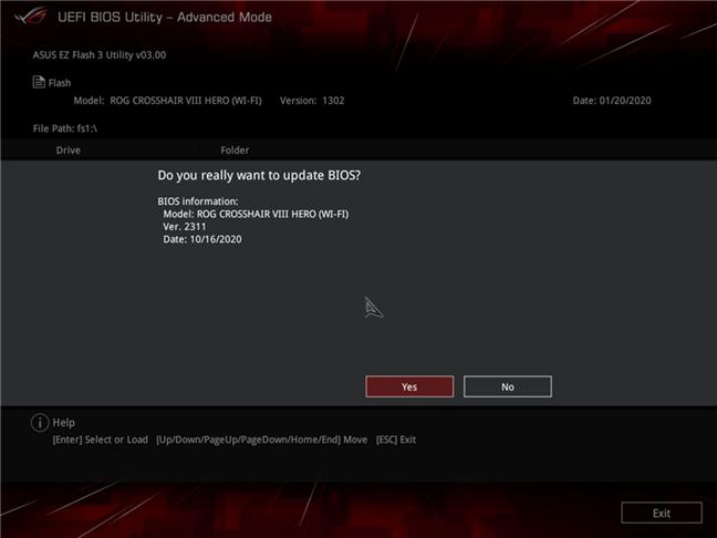 计算机主板的固件更新(UEFI BIOS更新)