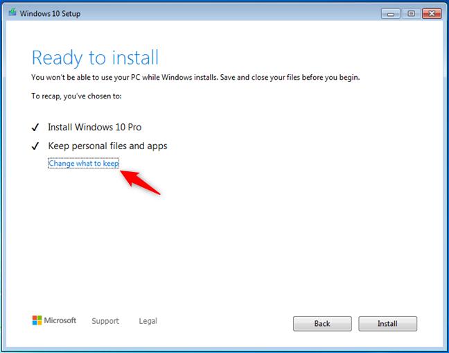 Windows 10准备安装