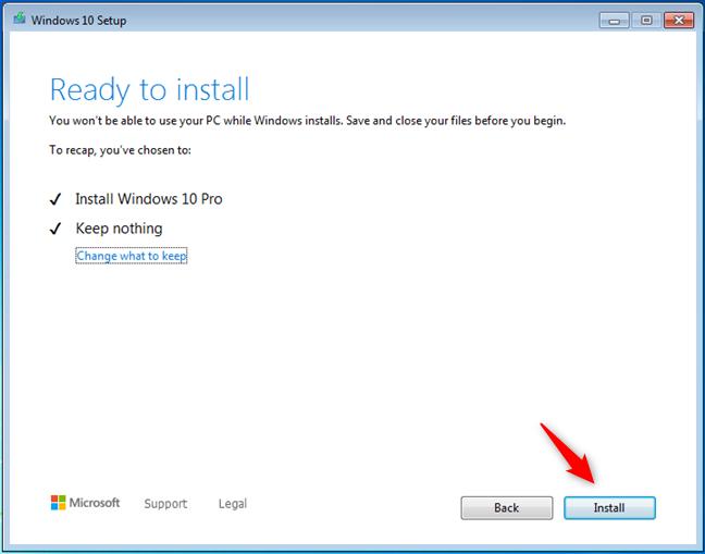 媒体创建工具已准备就绪,可以安装Windows 10