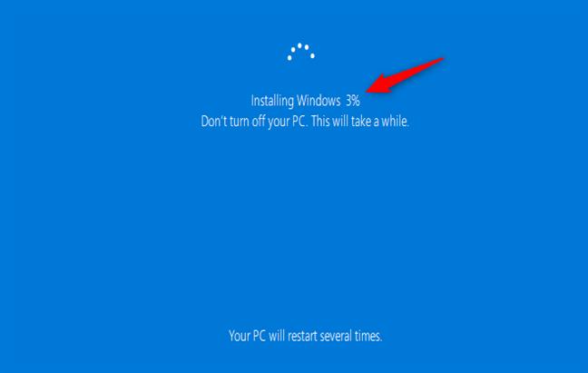 不保留任何文件或设置时安装Windows 10