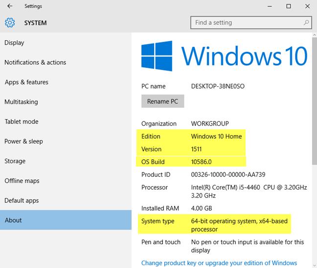 Windows 10版本,操作系统内部版本,版本和类型
