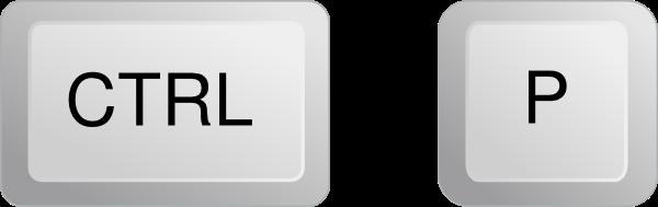 如何在Windows上打印:CTRL + P
