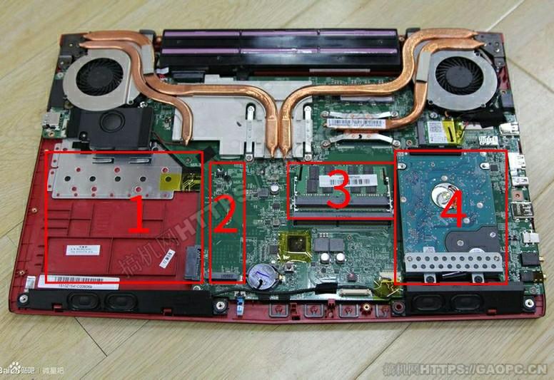 微星gl62 6qd 021xcn拆机 内部硬件排布