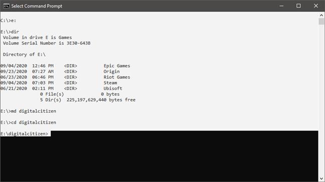 使用键盘快捷方式为命令提示符选择所有文本