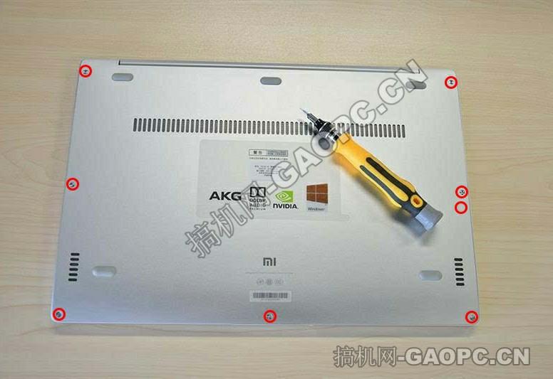小米Notebook Air 13.3拆机-背面