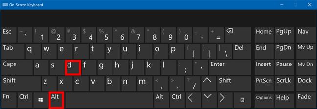 使用键盘快捷键Alt + D访问文件资源管理器的地址栏