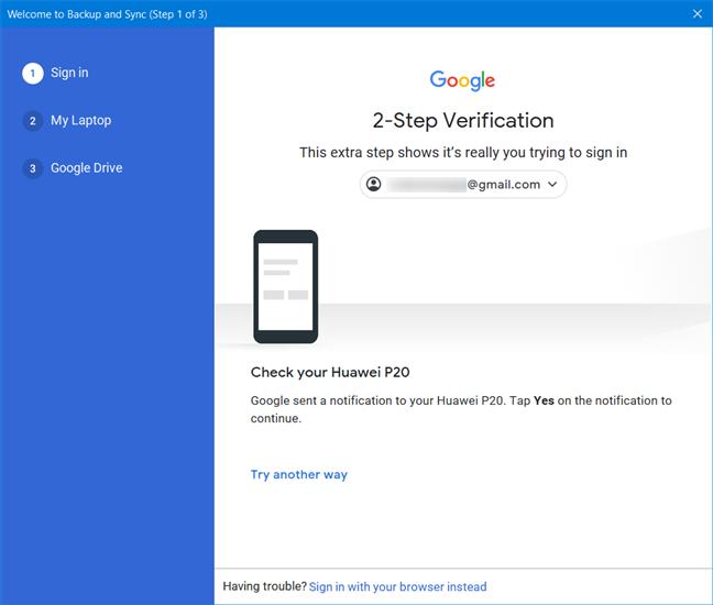批准Google的两步验证
