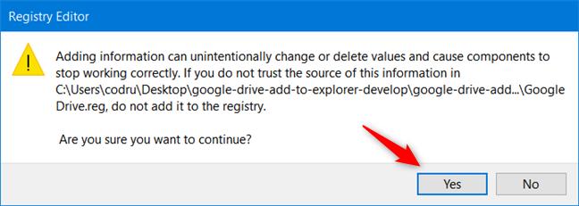 批准安装新的注册表文件