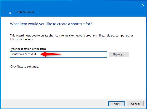 如何创建 Windows 10 恢复环境的快捷方式