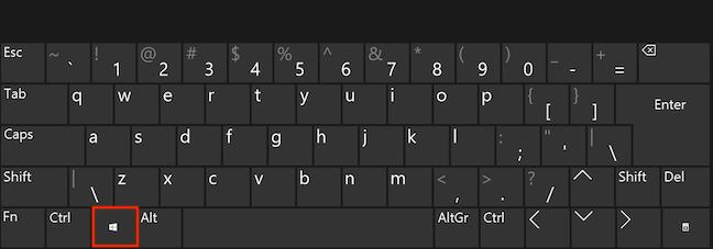 在键盘上按Windows,然后开始输入